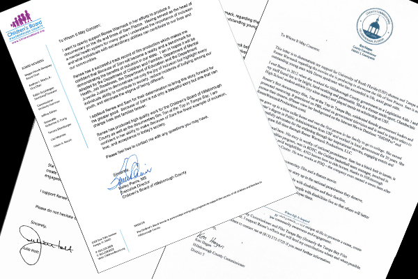 Letters of Support of Tampa Bay Area Leaders