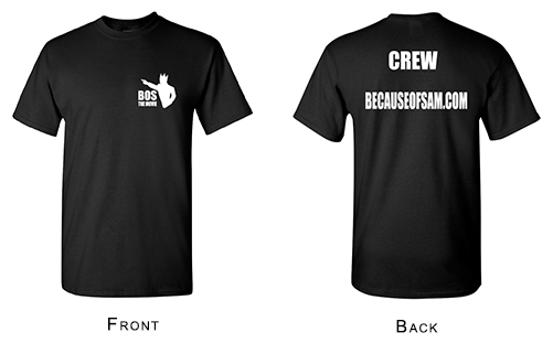 BOS Crew Black T-Shirts - Front and Back