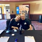 AMC The Regency 20 Theatres Community Screening of Because of Sam - Dr. Sandi Eveleth and Sam Piazza at ticket booth