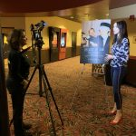 AMC The Regency 20 Theatres Community Screening of Because of Sam - Film director Renee Warmack interviewing Miss Pennsylvania USA Kailyn Marie Perez about the film