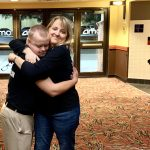 AMC The Regency 20 Theatres Community Screening of Because of Sam - Film star Sam Piazza hugs film editor Sandi Eveleth