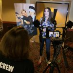 AMC The Regency 20 Theatres Community Screening of Because of Sam - Miss Pennsylvania USA Kailyn Marie Perez being interviewed by film director Renee Warmack about seeing the movie