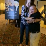AMC The Regency 20 Theatres Community Screening of Because of Sam - Miss Pennsylvania USA Kailyn Marie Perez holding emotional film star Sam Piazza