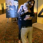 AMC The Regency 20 Theatres Community Screening of Because of Sam - Miss Pennsylvania USA Kailyn Marie Perez hugging film star Sam Piazza