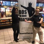 AMC The Regency 20 Theatres Community Screening of Because of Sam - Renee Warmack and Sam Piazza in front of sign