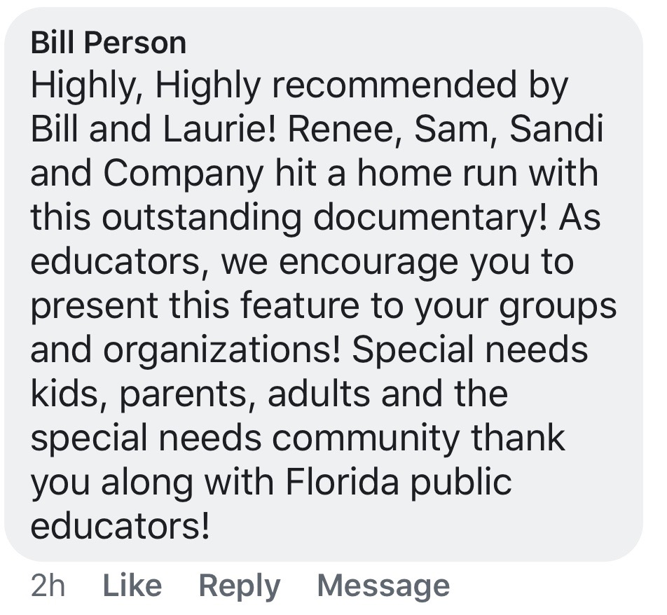 Facebook Testimonial - Bill Person