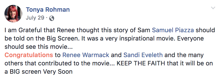 Facebook Testimonial - Tonya Rohman