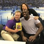 Sam Piazza with Titus O'Neil book, Titus O'Neil, Renee Warmack
