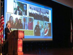 Public Defender Julianne M. Holt speaks at Pepin Academies Foundation Workforce Education Breakfast