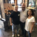 Sam Piazza with attendees of Because of Sam at The Villagio Cinemas in Carrollwood