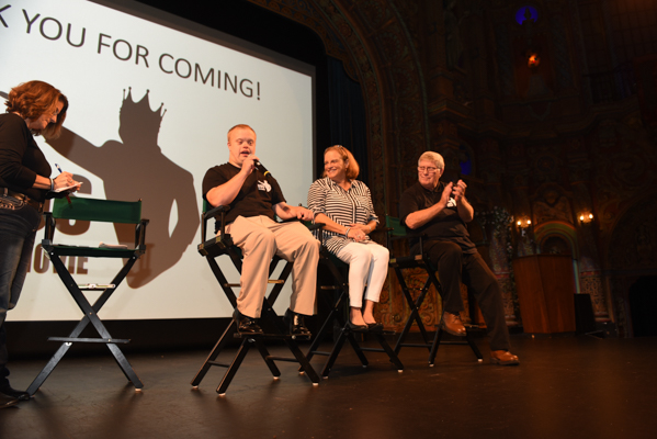 Because of Sam First Look screening at Tampa Theatre with Piazza family and Renee on stage