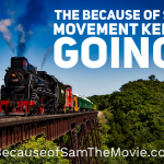 Because of Sam movement keeps going - image of train moving down a track