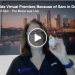 Facebook Live announcement of Worldwide Virtual Premiere of Because of Sam