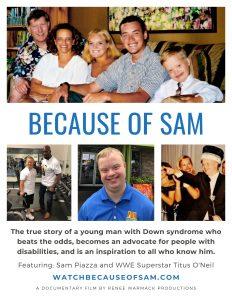 Because of Sam Movie Poster - 8.5x11