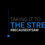 Taking it to the Streets - Renee Warmack for Because of Sam - Graphic