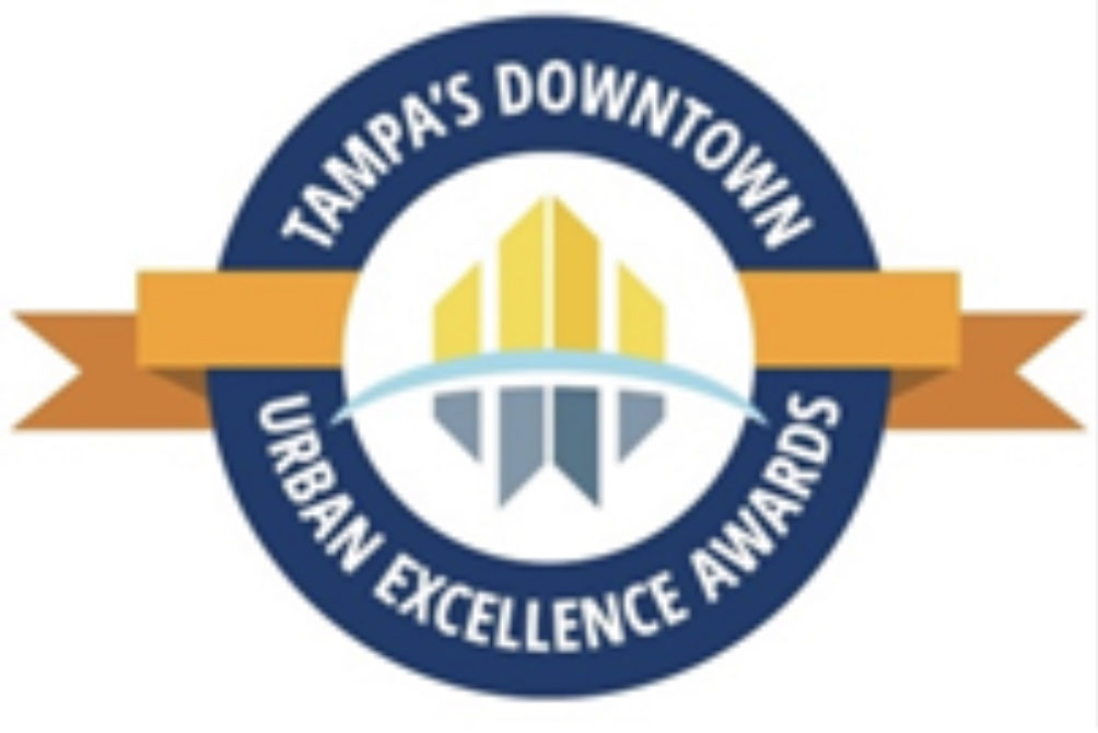 winner of tampa's downtown partnership's urban excellence awards for because of sam - image of the award