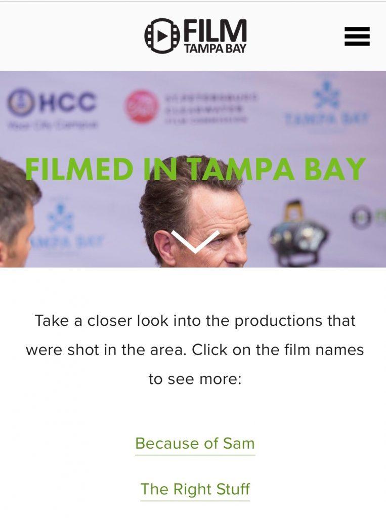 Film Tampa Bay website