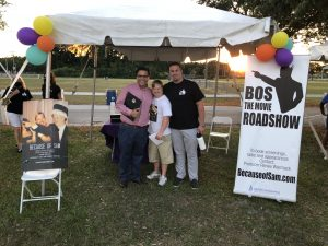 Tampa City Councilman Luis Viera, Star of Because of Sam Sam Piazza, and Best Buddies Tampa Board Member Matt Groelinger